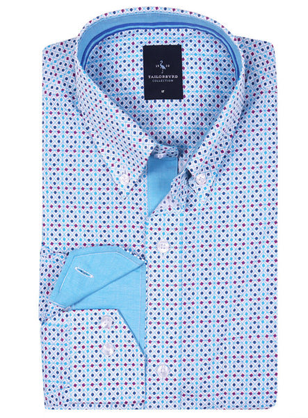Multi Dot/Square Big and Tall Button-Down Shirt