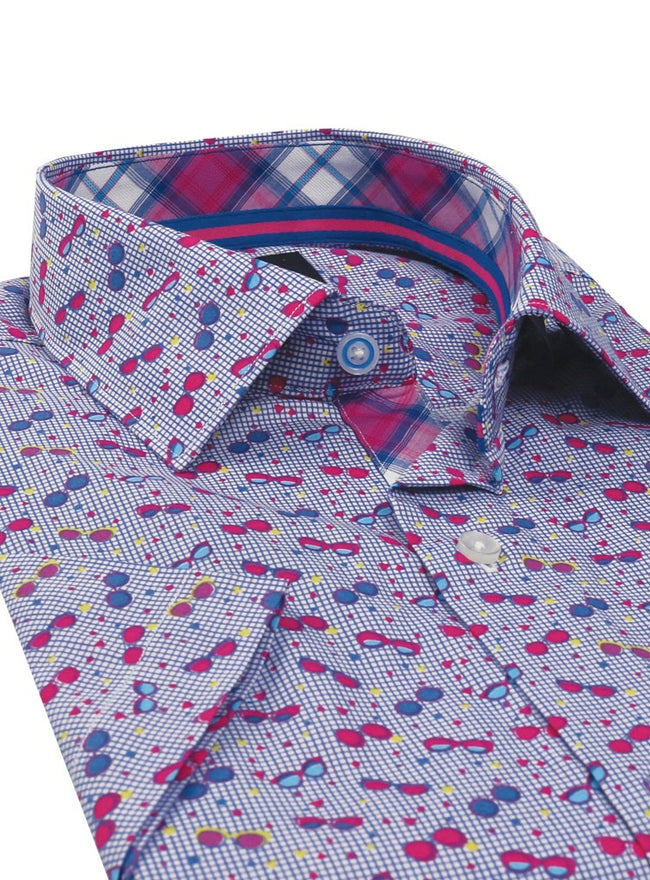 Sunglass Big and Tall Short Sleeve Button-Down Shirt