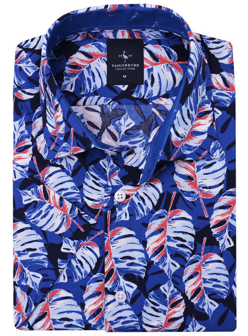 Blue Palms Short Sleeve Button-Down Big and Tall Shirt