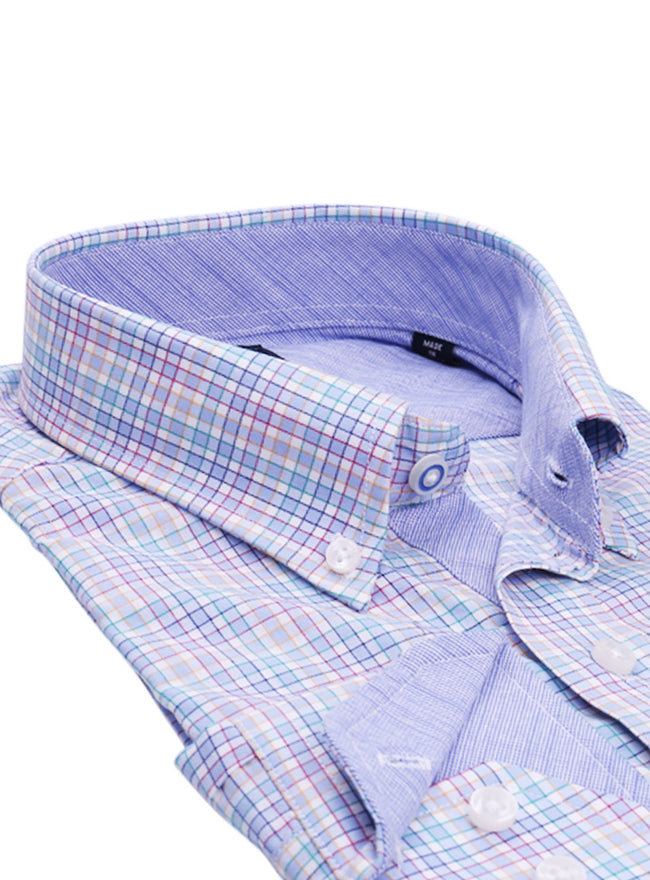 Multi Check Big and Tall Button-Down Shirt