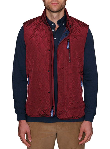 Modern Chevron Quilted Big and Tall Vest