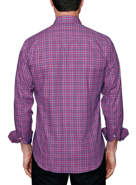 Marlberry Plaid Big and Tall Long Sleeve Shirt