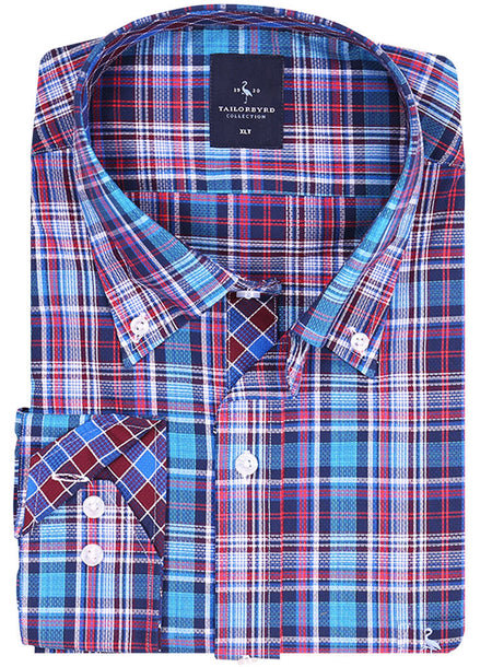 Marlberry Plaid Big Button-Down Shirt
